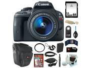 Canon EOS Rebel SL1 18MP Digital SLR with 18-55mm EF-S IS STM Lens and 3-inch Touch Screen + 32GB SDHC + Replacement LP-E12 Battery + Card Reader + Zoom Lens Camera Case + Tiffen UV Filter + Kit