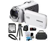Samsung HMX-F90 5MP 1280x720 30p HD Camcorder + 16GB Secure Digital Memory Card + HDMI to HDMI Cable-6ft +Deluxe SLR Soft Photo & Video Medium Case w/ Shoulder