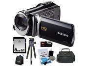 Samsung HMX-F90 5MP 1280x720 30p HD Camcorder + 8GB Secure Digital Memory Card + Deluxe SLR Soft Photo & Video Medium Case w/ Shoulder Strap & 2 Dividers + Memo