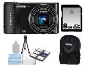 Samsung WB150 14.2MP WI-Fi Digital Camera with 18x Optical Zoom and 3-inch LCD + 8GB Memory Card + Vivitar Trendsetter Mini Camera Case + XIT Deluxe Starter Kit