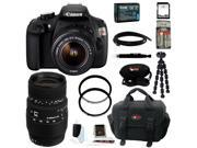 Canon t5 EOS Rebel T5 DSLR Camera with EF-S 18-55mm IS II Lens + Sigma 70-300mm f/4-5.6 DG Macro Telephoto Zoom Lens EOS AF + 64GB Memory Card + High Speed Card