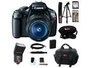 Canon t3 Canon EOS Rebel T3 12.2MP DSLR Camera & 18-55MM IS II Lens (Black) with Zoom TTL Flash Gun and 32GB Deluxe Accessory Kit