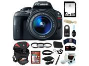 Canon sl1 Canon EOS Rebel SL1 18MP Digital SLR with 18-55mm EF-S IS STM Lens and 3-inch Touch Screen + 32GB SDHC + Replacement LP-E12 Battery + Card Reader + Tamrac Camera Case + Tiffen Filter Set