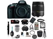 Nikon D5300 24.2 MP CMOS Digital SLR Camera with Built-in Wi-Fi and GPS Body Only (Black) + Sigma 18-250mm f3.5-6.3 DC MACRO OS HSM for Nikon Digital SLR Camera