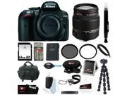 Nikon D5300 24.2 MP CMOS Digital SLR Camera with Built-in Wi-Fi and GPS Body Only (Black) + Sigma 18-200mm F3.5-6.3 Lens for Nikon + 64GB SDHC Card + Replacemen