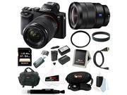 Sony ILCE7K/B 24.3 MP a7K Full-Frame Interchangeable Digital Lens Camera with 28-70mm Lens plus Sony 16-35mm Vario-Tessar T FE F4 ZA OSS E-Mount Lens and 64GB Deluxe Accessory Kit