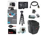 GoPro HERO4 SILVER Edition (Waterproof Housing) Sony 64GB micro SD Class 10 + Multi Card Reader + Micro HDMI Cable + Accessory Bundle