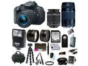 Canon T5i: EOS Rebel T5i w/ EF-S 18-55mm f/3.5-5.6 IS STM and 75-300mm f/4.0-5.6 EF III Zoom Lens with 32GB Deluxe Accessory Bundle