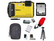 NIKON AW130: Nikon COOLPIX AW130 (Yellow) with 16GB Accessory Kit