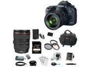 Canon 5D EOS 5D Mark III 22.3 MP Full Frame CMOS Digital SLR Camera with EF 24-105mm f/4 L IS USM Lens + Canon Gadget Bag + LP-E6 Battery + 32GB Accessory Kit
