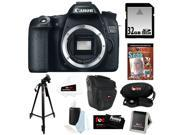 "CANON 70D: Canon EOS 70D 20.2 MP Digital SLR Camera w/ Dual Pixel CMOS AF (Body Only) + 32GB Memory Card + Camera Case w/ Shoulder Strap + Photography DVD Guide + Spider Tripod 10"" + Accessory Kit"