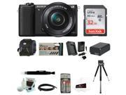 Sony Alpha a5100 ILCE5100L/B with 16-50mm Lens 24MP Mirrorless Interchangeable Lens Digital Camera (Black) 32GB Bundle 9SIA29P2MN8096