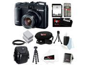 CANON G16 PowerShot G16 12.1 MP CMOS Digital Camera Bundle with 64GB SD Memory Card + Card Reader + Small Case + Two Replacement Battery for CANON NB-10L + Wrist Grip Strap + Best Camera Kit