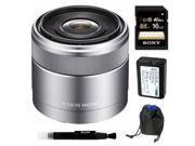 Sony DSLR SEL30M35 30mm F3.5 E-Mount Nex Macro Lens Kit K2