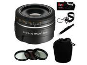 Sony DSLR SAL30M28 30mm F/2.8 Alpha Digital SLR Camera Lens + Accessory Kit