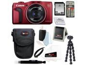 Canon SX700 PowerShot SX700 HS Digital Camera in Red with 32GB Best Camera Kit