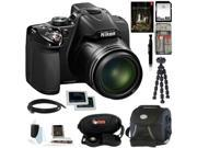 Nikon COOLPIX P530 Digital Camera (Black) with Adobe Photoshop Lightroom 5 and 64GB Deluxe Accessory Kit