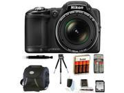 Nikon COOLPIX L830 Digital Camera (Black) with 16GB Deluxe Accessory Kit