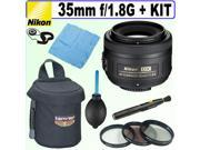 Nikon 35mm F/1.8G AF-S DX Nikkor Lens + Deluxe Accessory Kit