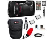 Olympus Stylus Tough TG-850 Digital Camera (Black) with 32GB Deluxe Accessory Kit