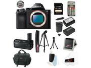 Sony ILCE7R/B ILCE7RB 36.3 MP a7R Full-Frame Interchangeable Digital Lens Camera Bundle + Sony 64GB SDHC Memory Card + Sony Vertical Battery Grip for a7 and a7R