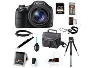 Sony HX400/B 20.4MP High Zoom Point and Shoot Camera with Sony 16GB SD Card + Sony Soft Carry Case + HDMI Standard to Micro Cable + Accessory Kit