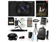 Sony RX 100 DSC-RX100/B 20.2 MP Exmor CMOS Sensor Digital Camera with Sony 64GB SD Card + Adobe Lightroom 5 and Deluxe Accessory Bundle