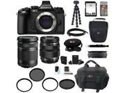 Olympus OM-D E-M1 Compact System Camera (Body) with 40-150 and 12-40mm Lens Bundle plus 64GB Deluxe Accessory Kit