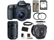 Canon 70d EOS 70D DSLR with EF-S 18-55mm IS STM Lens and Canon EF-S 55-250mm f/4-5.6 IS STM Lens plus 64GB Deluxe Accessory Kit
