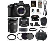 Olympus em1 Olympus OM-D E-M1 Compact System Camera (Body) with 25mm and 40-150mm Lens Bundle and 64GB Deluxe Accessory Kit plus Adobe Photoshop Lightroom 5