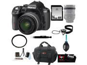 Pentax K-50 16MP Digital SLR Camera Kit with DA L 18-55mm WR f3.5-5.6 Lens(Black) + 52mm UV Protector + Kit