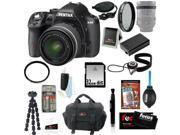 Pentax K-50 16MP Digital SLR Camera Kit with DA L 18-55mm WR f3.5-5.6 Lens(Black) + Tiffen UV Protector & Polarizing Filter + Focus Camera Case+ 32GB Memory Card + Kit