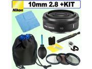 Nikon 1 Nikkor 10mm F2.8 Lens Black   Deluxe Accessory Kit
