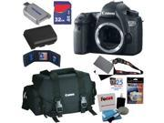 Canon 6d EOS 6D 20.1 MP CMOS Digital SLR Camera (Body) + Canon Gadget Bag + LP-E6 Battery + 6pc Bundle 32GB Accessory Kit