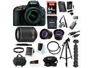 Nikon D5500 Digital SLR Camera (Black) with 18-55mm VR II Lens and Nikon AF-S DX NIKKOR 55-200mm f/4-5.6G ED VR II Lens plus 64GB Deluxe Accessory Bundle