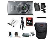 Canon Powershot ELPH 160 (Silver) with 32GB Deluxe Accessory Bundle