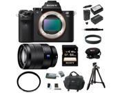 Sony a7 ii: Alpha a7II Interchangeable Digital Lens Camera (Body Only) and Sony 24-70mm F4 Zoom Lens  With 64GB Deluxe Accessory Bundle