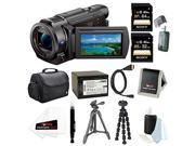 Sony FDR AX33 B FDR AX33B FDR AX33 4K Camcorder with 1 2.3 sensor with Sony 64GB and 32GB SDHC Cards and Accessory Bundle