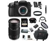 Panasonic GH4: LUMIX DMC-GH4KBODY 16.05MP Digital Single Lens Mirrorless Camera with Panasonic H-FS100300 Lumix G Vario 100-300mm F/4.0-5.6 MEGA O.I.S. Lens plus 64GB Deluxe Accessory Bundle