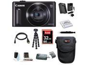 CANON SX610: Canon PowerShot SX610 IS Digital Camera HS (Black) with 32GB Deluxe Accessory Bundle