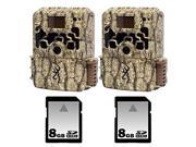 Browning Dark Ops Trail Camera Two Pack with Two 8GB SD Memory Cards