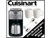 Coffee Maker by Cuisinart DGB-900BC Fully Automatic 12 Cup Grind & Brew Thermal Coffeemaker Kit in Brushed Chrome - ACUIDGB900BCK1 9SIV0742R45137