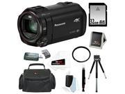 Panasonic HC-VX870 4K Ultra HD Camcorder with Wireless Smartphone Twin Video Capture with 32GB SD Card, Tiffen 49mm UV Filter, SLR Case and Accessory Bundle