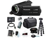 Panasonic HC-V160K Long Zoom Camcorder with Built-in WiFi and Sony 32GB microSD Card + Camera / Video Case + Deluxe Accessory Bundle