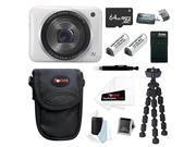 CANON N2: Canon PowerShot N2 IS Digital Camera Digital Camera (White) 64GB Bundle
