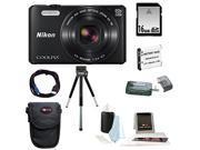Nikon S7000 COOLPIX (Black) with 16GB Accessory Kit