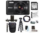 Nikon S7000 COOLPIX Camera (Black) with 32GB Kit