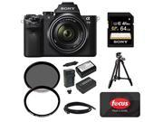 Sony a7 Alpha a7IIK Mirrorless Camera with 28 70mm Lens 64GB Accessory Bundle 50 Focus Gift Card