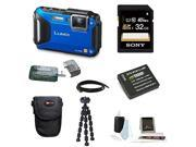 Panasonic DMC-TS6A LUMIX WiFi Enabled Tough Adventure Camera (Blue) with 32GB Deluxe Accessory Kit