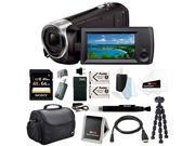 Sony HD Video Recording HDRCX405 HDR-CX405/B Handycam Camcorder (Black) + Sony 64GB Accessory Bundle